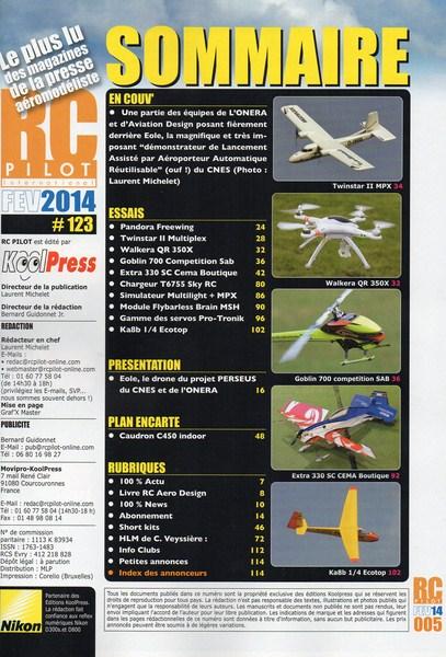RC Pilot 123 - Sommaire