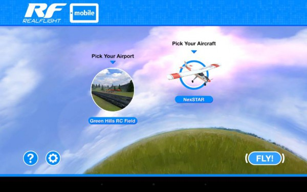 realflight mobile - menu