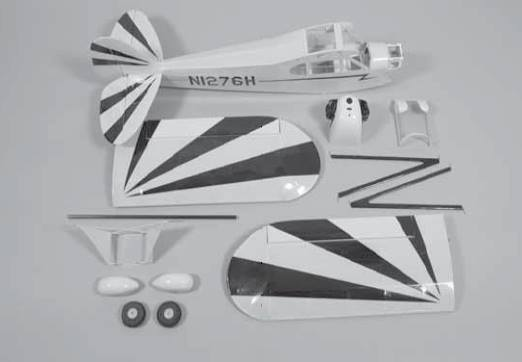 Clipped wing J3 club 250 - Kit