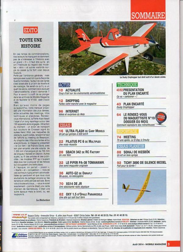 Modele Magazine 755 - Sommaire