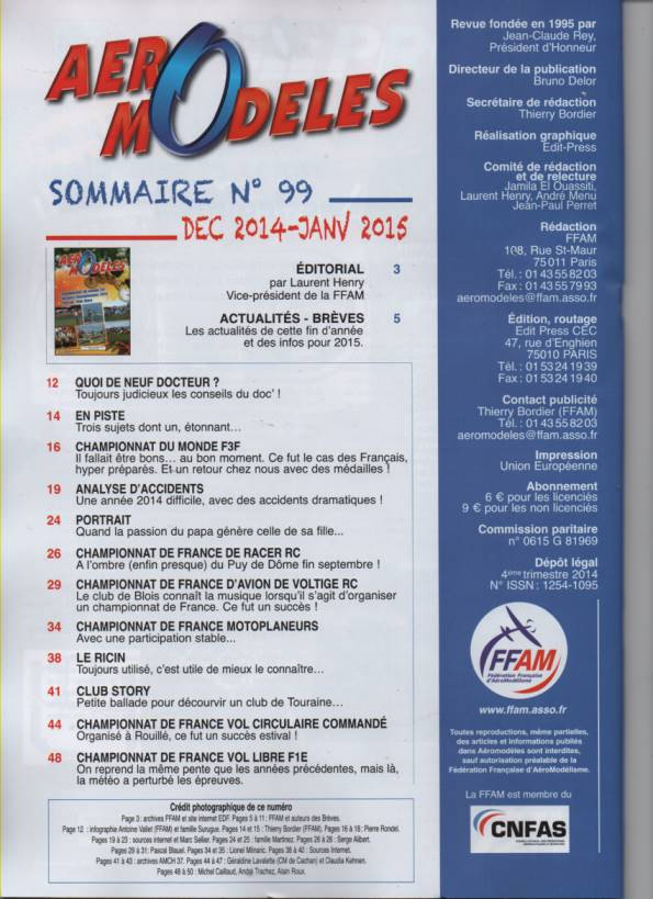 aero modeles 99 - Sommaire