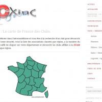 Nouvelle rubrique : Carte de France des clubs.
