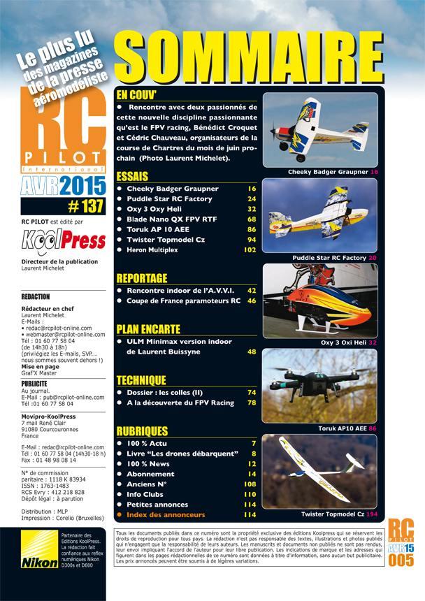 RC pilot 137 - Sommaire