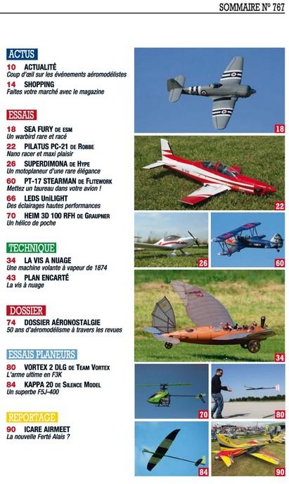Modele Magazine - 767 - Sommaire