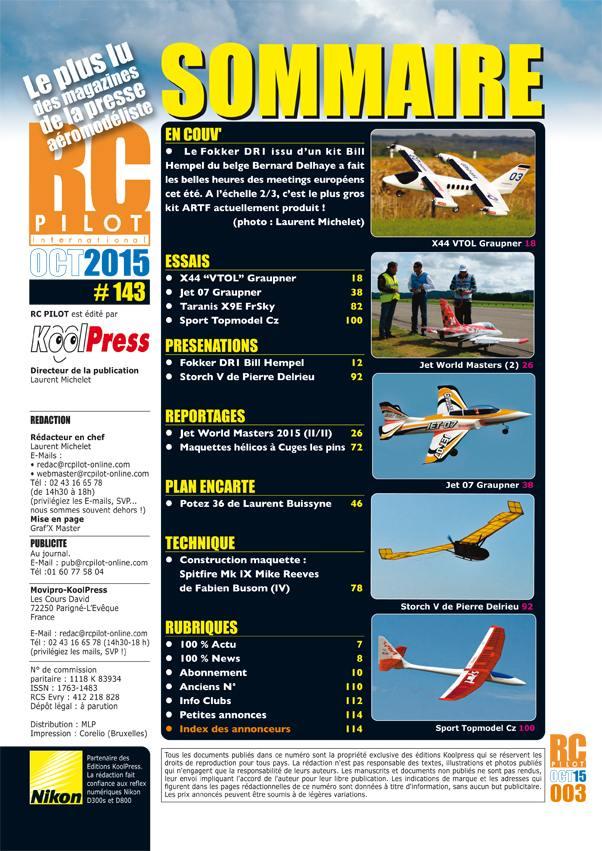 RC Pilot 143 - Sommaire