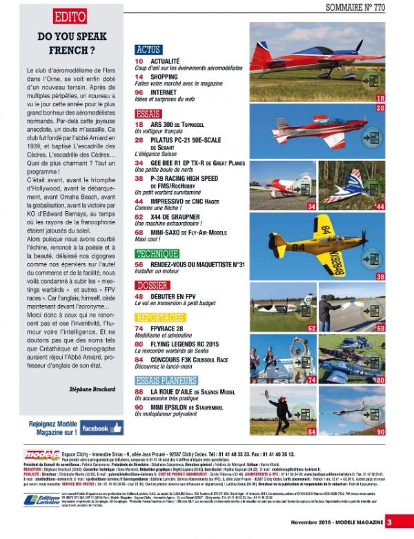 modele magazine 770 - Sommaire
