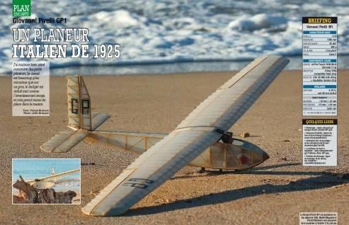 Modele magazine 773 - Planeur Giovanni Pirelli