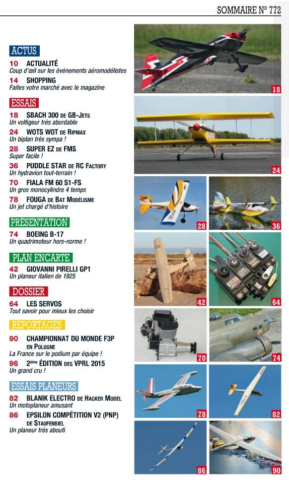 Modele Magazine 773 - Sommaire