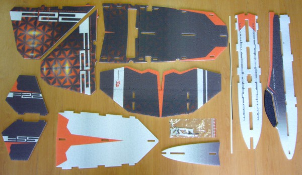 F22 RAPTOR de RC Factory - Le Kit