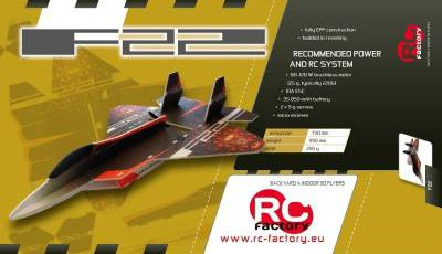 F22 RAPTOR de RC Factory : Un jet EPP surprenant.