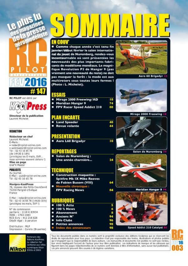RC Pilot 147 - Sommaire