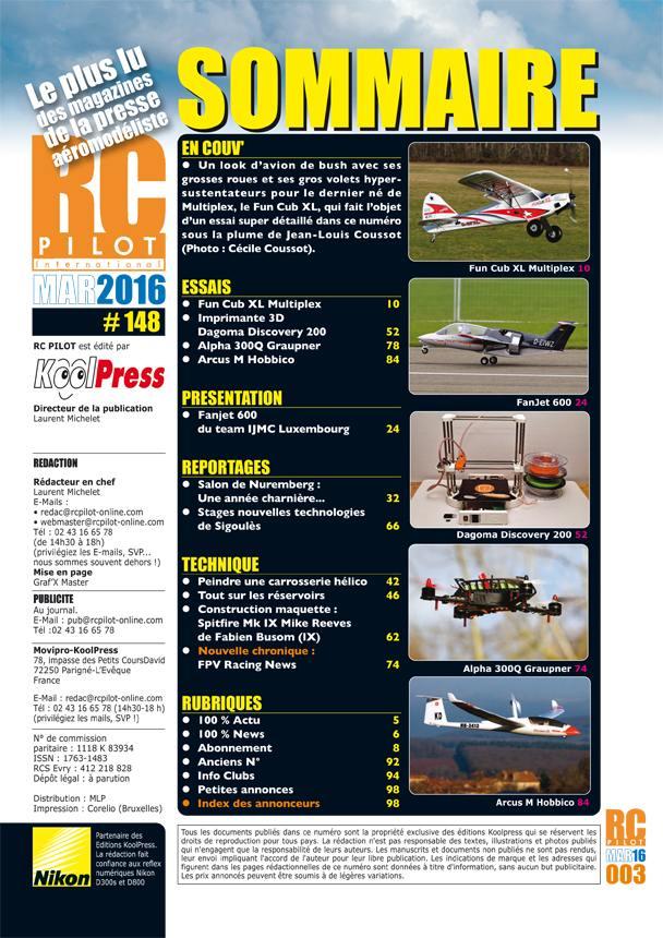RC Pilot 148 - Sommaire