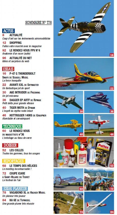Modele Magazine 778 - Sommaire