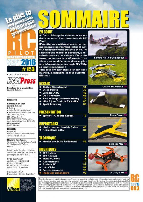 RC Pilot 153 - Sommaire