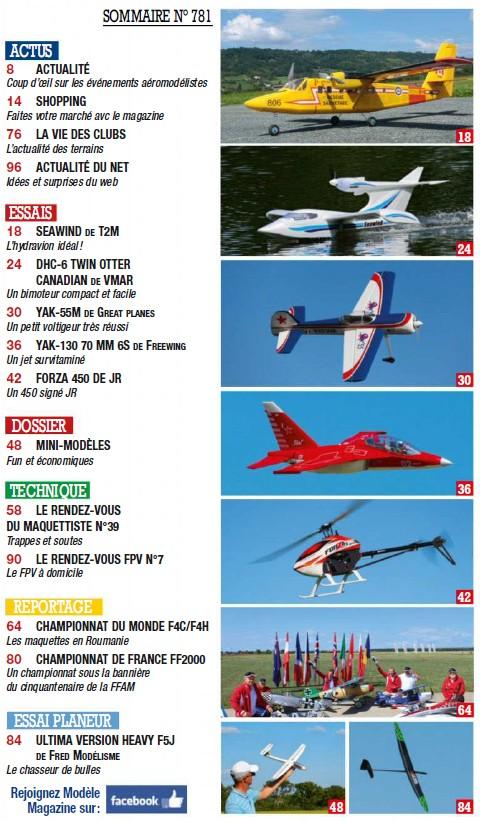 Modele Magazine 781 - Sommaire