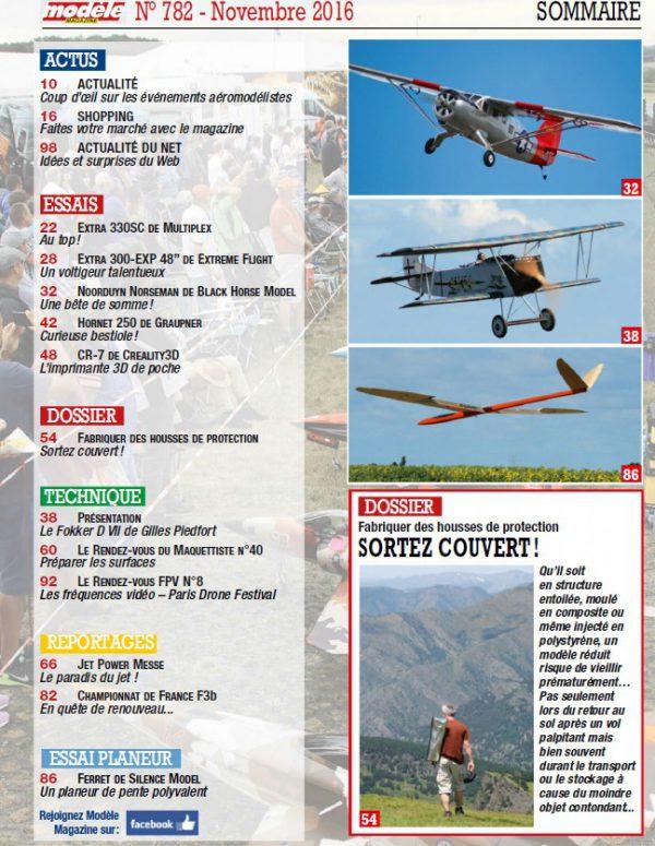 Modele Magazine 782 - Sommaire