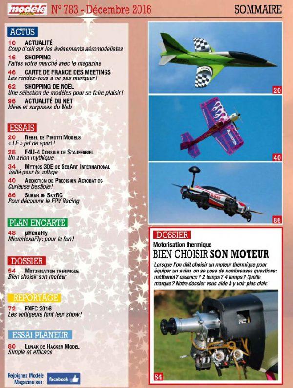 Modele Magazine 783 - Sommaire
